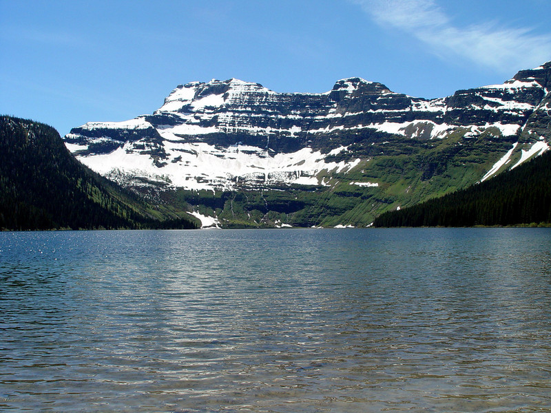 A glacial lake in Waterton Peace Park in Canada.