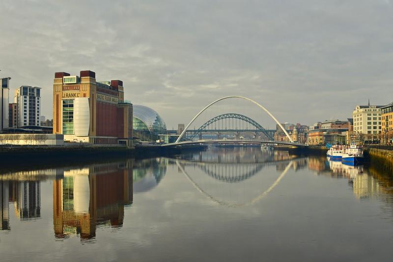 River Tyne And Bridges