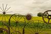 Wheel Fence Art @ Dahmen Barn<br /> Palouse Region<br /> Washington<br /> © 2014
