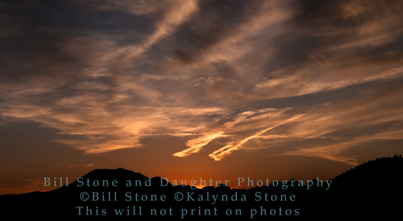 Sunset near Mammoth Lakes California