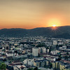 Sunset in Graz