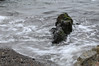 Sea wash around rock