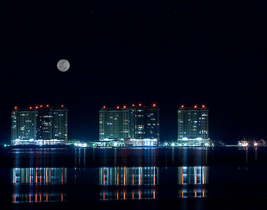 Portofino in moonlight, Pensacola Beach, Fl