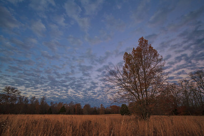 Twilight at Old Stone Fort State Park.  Fall colors have come to an end.