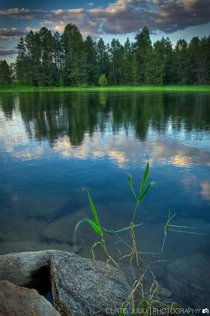Cloud reflections at Cascade Lake, Idaho