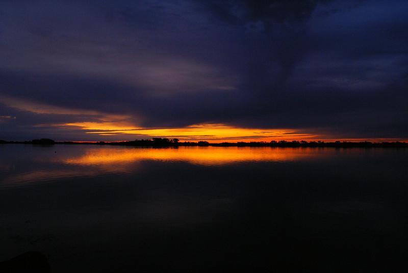 Sunrise over Ninigret Pond, Rhode Island.<br /> <br /> Photo taken 26 October 2011.