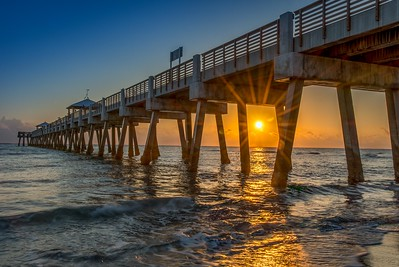 Juno Beach Pier at Sunrise