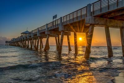 Juno Beach Pier at Sunrise