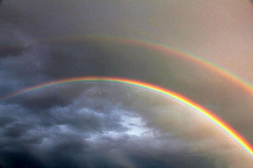 Nevada double rainbow