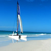 Perfect shot for calendar. White sand and blue water. Siesta Key Beach, Sarasota, Florida