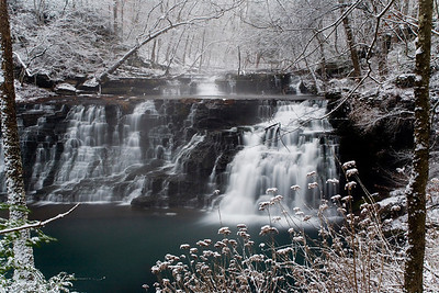Rutledge Falls at dawn, winter scene