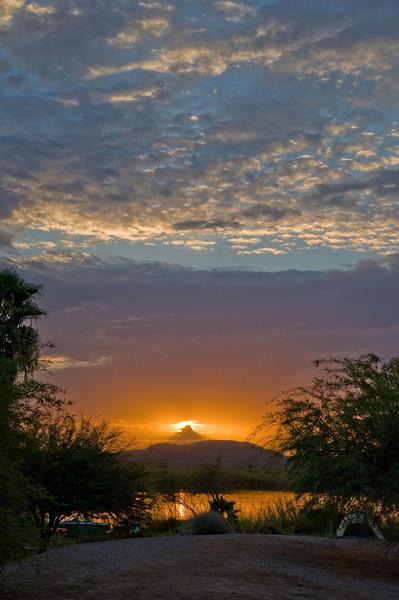 Sunrise at Squaw Lake, Colorado River, CA
