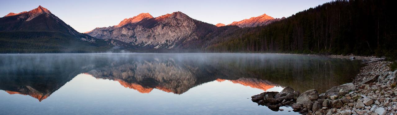 Petit Lake in the Sawtooth Mountains, Idaho.