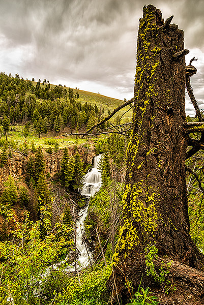 Undine Falls, Yellowstone National Park, Wyoming<br /> Accepted juried image (Color Scenic - Spring)  2015 International Exhibition of Photography