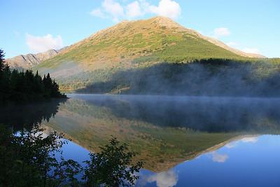 Upper Summit Lake, Kenai Peninsula, Alaska.