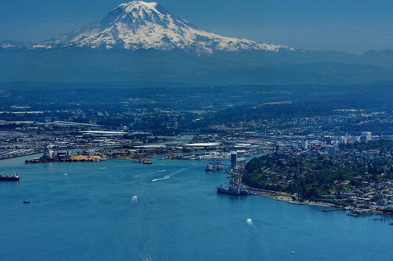 Commencment Bay, Tacoma, Washington<br /> and Mt. Rainier
