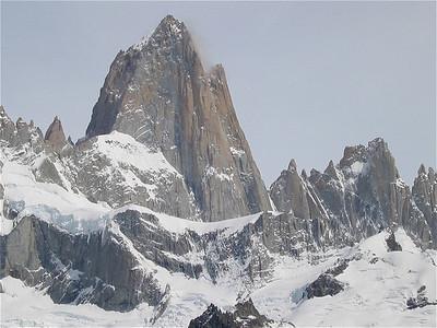 Mount Fitzroy, Parque Nacional Glaciares, Argentinië.