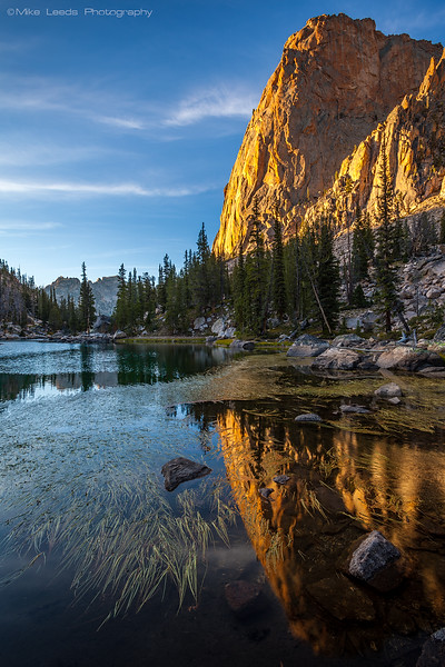 Elephant's Perch and the Shang ri la in the Sawtooth Mountains on a September evening in Idaho.