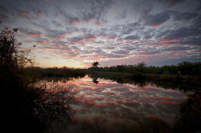 Sunrise over Anhinga Trail Everglades National Park Florida  © 2011