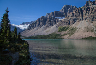 Bow Lake, looking towards the Crowfoot Glacier, Banff National Park (August 2012)