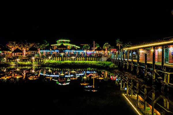Night Lights at The Conch House