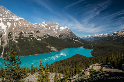 Peyto Lake Bow Summit along the Icefields Parkway Alberta, Canada © 2014