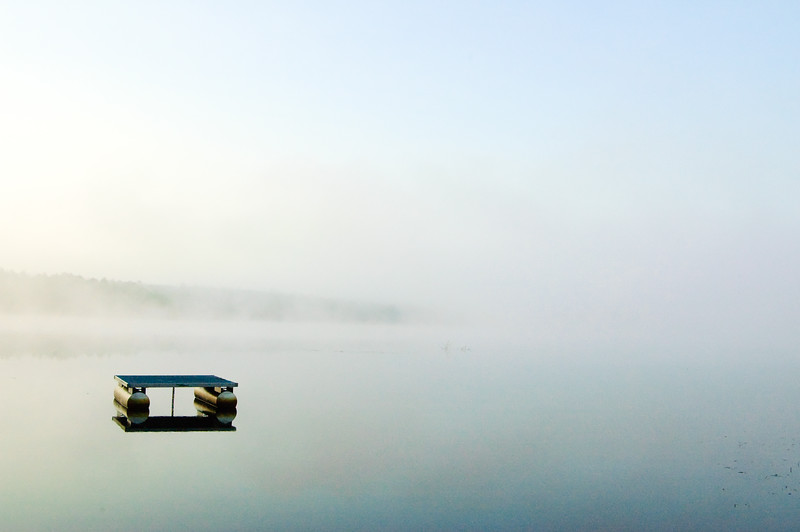 Morning Mist at the Swimming Dock