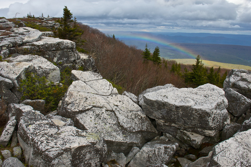 Sandstone and Rainbow, Dolly Sods Wilderness, Monongahela National Forest, West Virginia
