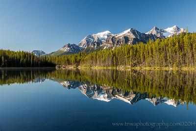 Herbert Lake Reflections Lake Louise, Banff National Park Alberta, Canada © 2014