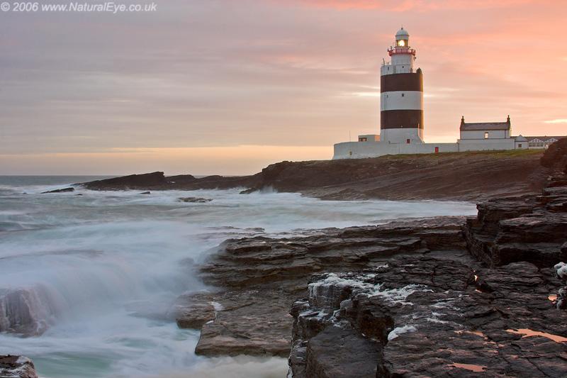 Hook Lighthouse after sunset