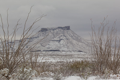 Snow In Big Bend NP