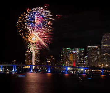 Fireworks - Miami  from the MacArthur Causeway