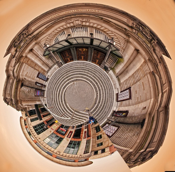 Usher hall Edinburgh sky view