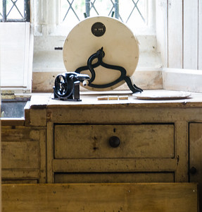 Old Kitchen Counter at Ightham Mote Kent England