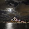 Moonlit Sydney Opera House. Vivid Sydney