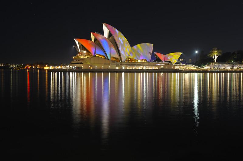 Sydney Opera House. Vivid light show. 2010.