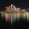 Sydney Opera House. Vivid light show. 2010.