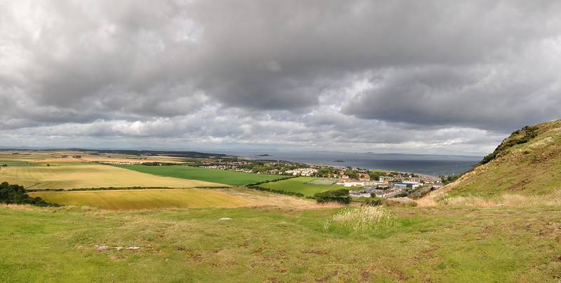 View of North Berwick from half way up Berwick Law