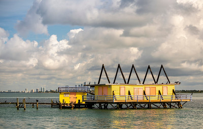 A-Frame House in Stiltsville, Biscayne Bay, FL