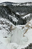 Yellowstone National Park, Wyoming<br /> Lower Falls, Yellowstone River<br /> January 2011