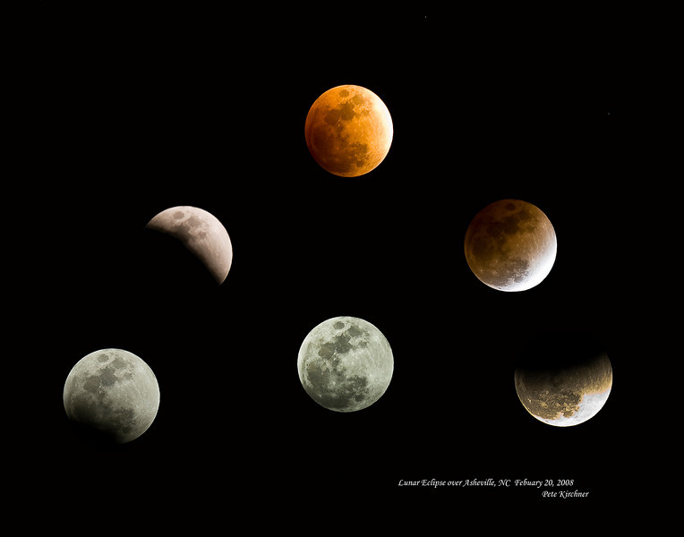 A poster of a receint lunar eclipse.