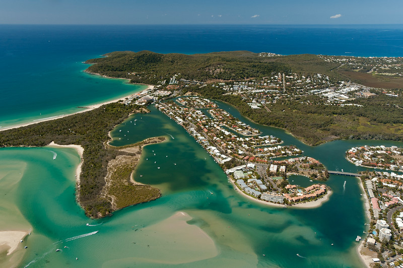 Aerial Photo of Noosa Heads, Sunshine Coast, Queensland.