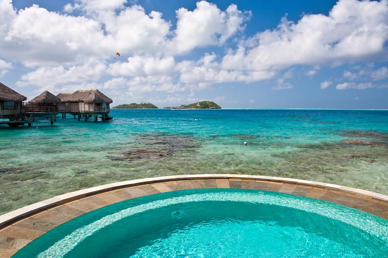 Bora Bora island in French Polynesia.<br /> Sofitel Hotel.