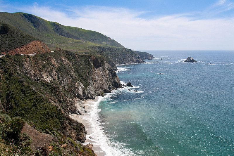 Looking down the coast north of the Bixby Bridge