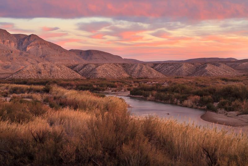 Rio Grande at dusk