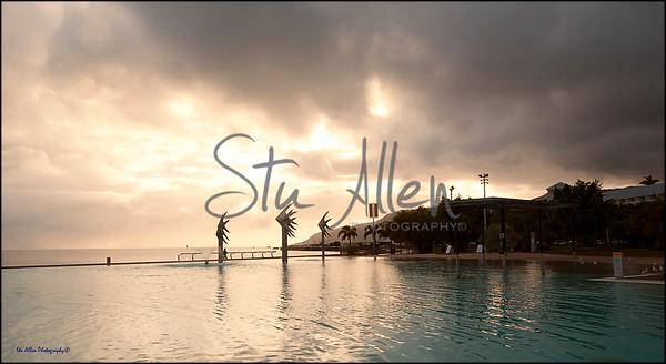 Cairns esplanade in the morning