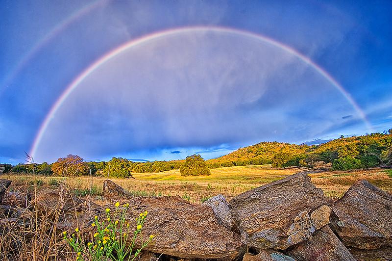 Summer rainbow in the mountains near Julian, CA.