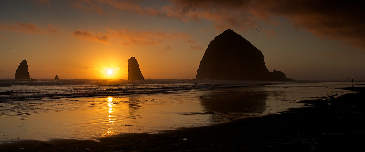 Cannon Beach, OR Haystack Rock at Sunset