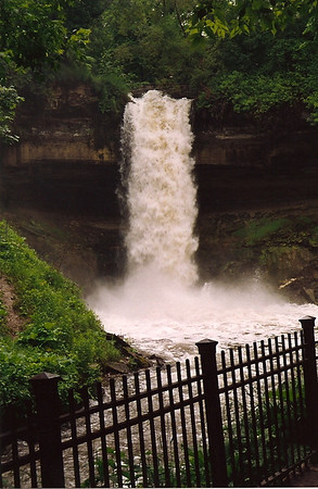 Minnehaha Falls Spring 1992, Minneapolis, Minnesota