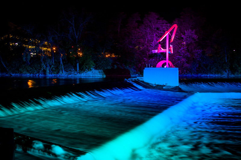 South Bend river lights